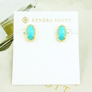 Kendra Scott Ellie earrings turquoise gold